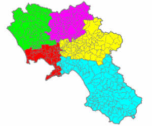 The municipalities of Campania